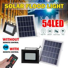 54LED Solar Power Flood Light Dusk-to-Dawn Sensor Outdoor Wall Lamp Floodlights