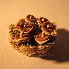 CESTO ~ con funghi ~ DOLLS HOUSE miniatura ~ 1 / 12th scale