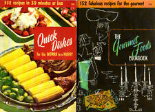 TWO Culinary Arts Institute Cookbooks Quick Dishes & Gourmet Foods