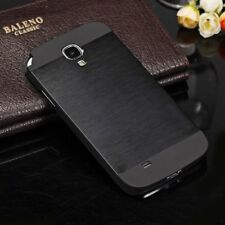 Black Ultra Thin Brushed Metal Case Cover For Samsung Galaxy S4 i9500