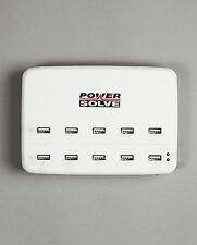 Powersolve Blanco Puerto USB 10 HUB de Carga Universal de entrada 90-264VAC T15521