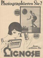 J1123 LIGNOSE Rollfilm & Filmpack - Pubblicità grande formato - 1927 Old advert