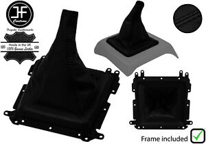 BLACK STITCH REAL LEATHER SHIFT BOOT+PLASTIC FRAME FOR MAZDA B2000 B2200 B2600