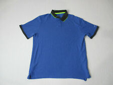 Nike Golf Standard Fit Polo Shirt Adult Large Blue Neon Dri Fit Golfer Rugby