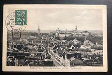 1931 Tallinn Estonia Real Picture Postcard Cover To Detroit MI USA City View
