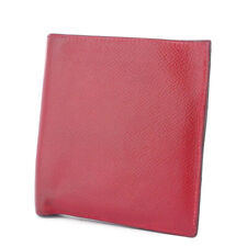 HERMES two-fold wallet leather Auth used T9946