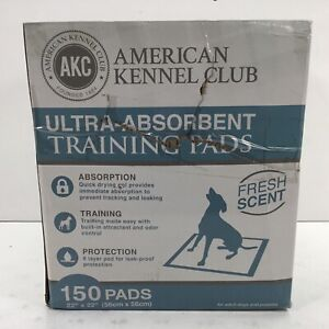 AKC American Kennel Club, Ultra Absorbent Training Pads, Pack of 150 (Read)