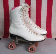 Vintage Chicago Womens White Roller Skates Chicago Baseplates & 76P Wheels Sz.6