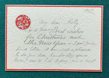 More details for grand duke andrei romanov imperial russian antique christmas card sent to nanny