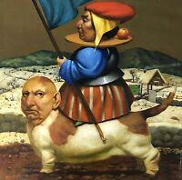 Winter Rhapsody, Original oil Painting, Handmade art, Surrealism, One of a Kind