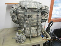 MILITARY ACU MOLLE LARGE RUCK SACK FIELD PACK Frame 2 Sustain Canteen #1 VGC