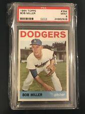 1964 Topps # 394 Bob Miller - PSA 9 MINT (Dodgers) SET BREAK