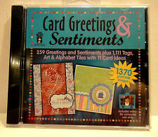 Card Greetings & Sentiments  DVD 1370 Printable Images Computer Use Only NEW