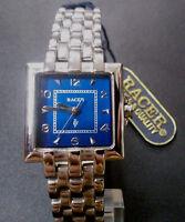 Reloj pulsera mujer RACER RV Original Quartz T33720 Nuevo fondo azul