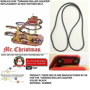 Mr Christmas World's fair Roller Coaster Tornado- PART 28inch toothed belt only