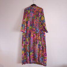 Vintage Design House Multicolored Bright Long Floral Maxi Dress Japan !