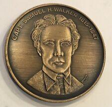 Capt. Samuel Walker Texas Rangers Hall Of Fame Coin Medal Police Law Enforcement