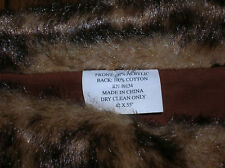 FAUX FUR THROWS 42 X 55 EXCELLENT CONDITION ~ GREAT FOR CABIN ~ SINGLE BEDS