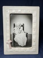 Vintage Russ Gifts of Faith Confirmation Ceramic Picture Frame Cross Christian