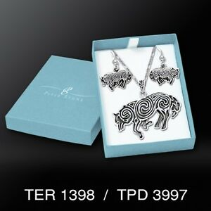 Brigid Ashwood Celtic Wolf .925 Sterling Silver Boxed Set by Peter Stone