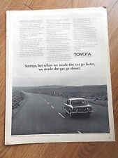 1972 Toyota Corona Ad Made the Car go Faster The Gas Go Slower
