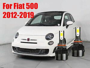 LED For Fiat 500 2012-2019 Headlight Kit 9012 HIR2 White CREE Bulbs Hi/Low Beam