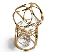 2pcs Crystal Brass Cage Charms Pendant Beads Gold Plated Jewelry Findings