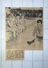 1949 Kitten Swimming In A Pool At San Carlos California