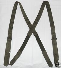 New French Military Issue Adjustible Suspenders Button Elastic ECWCS E.C.W.C.S