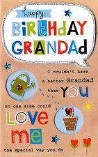 Grandad Happy Birthday Greeting Card Second Nature Poem Corner Cards