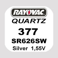 4x Rayovac SWISS MADE Uhren Batterie Knopfzelle 377/SR626SW AG4 Blister Neu