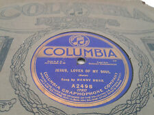 Henry Burr 78 Columbia 2498 Jesus, Love of My Soul/Where is My Wandering Sleeve