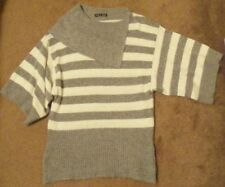 Collared Thin Knit Striped Regular Jumpers & Cardigans for Women