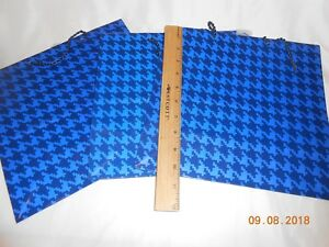 New lot 3 Hallmark Blue Gift Bags all occasions X wide nice Father's Day Bags