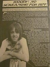 Woody Wood, The Bay City Rollers, Full Page Vintage Clipping