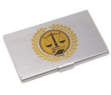 Lawyers Scale of Justice Symbol Business Card Holder