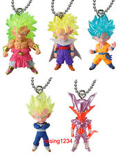 BANDAI Dragonball Super UDM Best 18 Keychain Figure Set of 5 Broly Goku Gohan