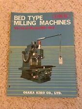 Okk Mh 5v Bed Type Milling Machine Sales Catalog Made In Japan