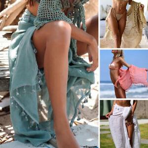 Hot Summer Sexy Beach Bikini Cover Up Wrap Skirts Scarf Sarong Dress Swimwear
