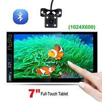 """7"""" HD 2DIN Autoradio kapazitiver Bildschirm FM RDS Bluetooth Mit Rückfahrkamera"""
