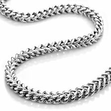 """QUALITY 6mm heavy weight Stainless Steel Mens Box Curb Chain necklace 22"""" / 56cm"""