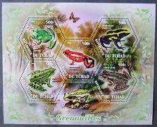 Tchad 2011 - Frogs, 1 M/Sh, MNH, EP 008