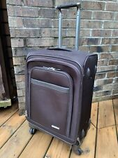 """Bric's 21"""" Pininfarina Spinner Suitcase Luggage Carry On Chocolate Brown Bag"""