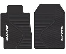 Honda Civic Logo Emblem Durable PVC Vinyl Black Floor Mats New Free Shipping