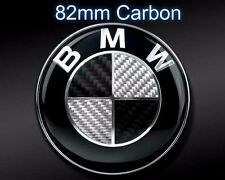 Car Vehicle Carbon Emblem Logo Hood Trunk 82mm for All BMW E30 E36 E46 M POWER
