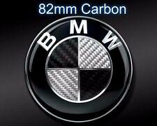 Car Vehicle Carbon Emblem Logo Hood Trunk 82mm for All BMW E30 E36 E46 M POWER