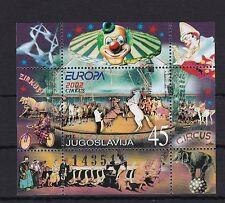 Jugoslawien postfrisch Cept Europa 2002  MiNr. Block 53  Zirkus