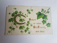 Greeting Postcard Vintage Old Friends