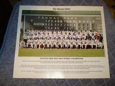 2004 Boston Red Sox Team Photo Boston Globe World Series Champs.