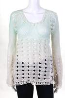 Alberto Makali Womens Blouse Size Medium Multicolor Long Sleeve